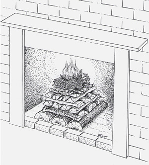 Build a Fireplace Fire - Four Seasons Chimney Service